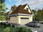 Дом с мансардой, подвалом, гаражом, эркерами, террасой и балконом